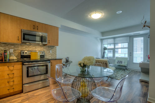 Eat-in Kitchen, 59 East Liberty, Toronto Condo Staging