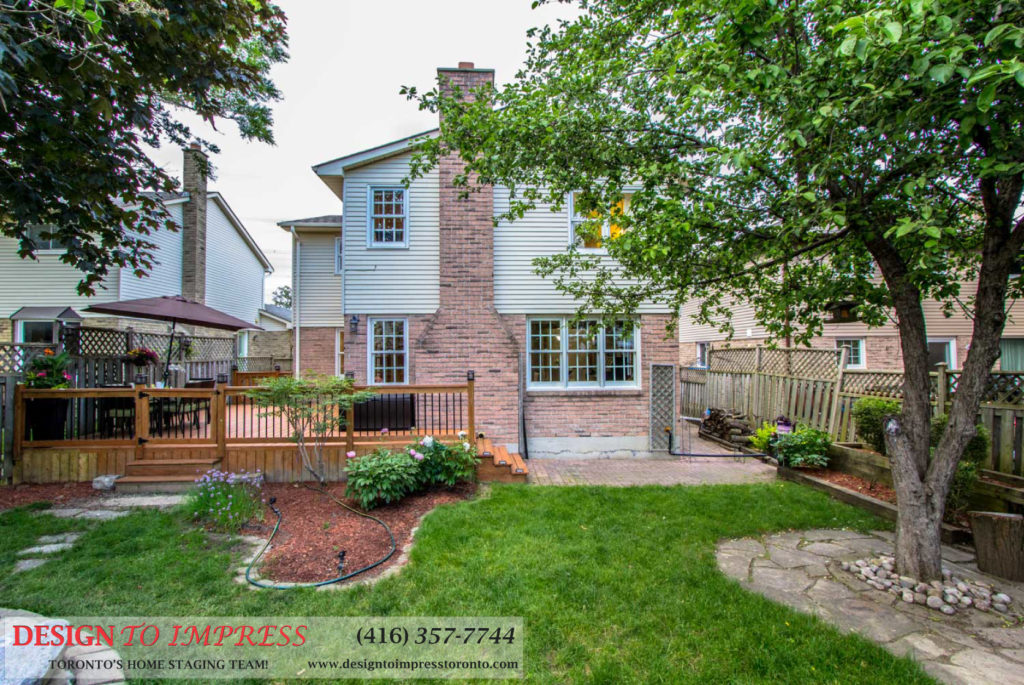 Backyard Chimney, 133 Huntington Park, Thornhill Home Staging