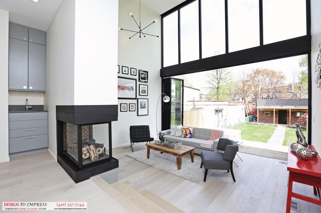 Backyard Open Doors, 75 Parkway, Toronto Home Staging