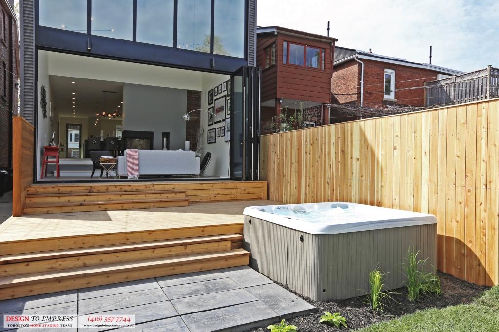 Backyard Steps, 75 Parkway, Toronto Home Staging
