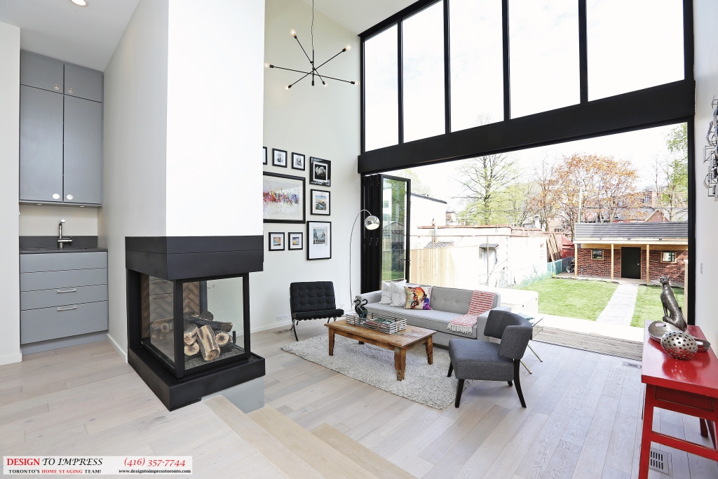 Backyard Wide Open Doors, 75 Parkway, Toronto Home Staging