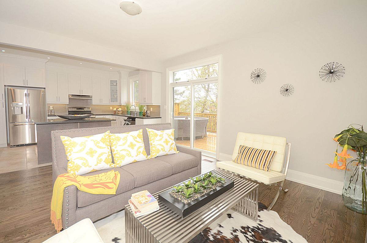 Backyard Window, 136 Brooklawn, Scarborough Home Staging
