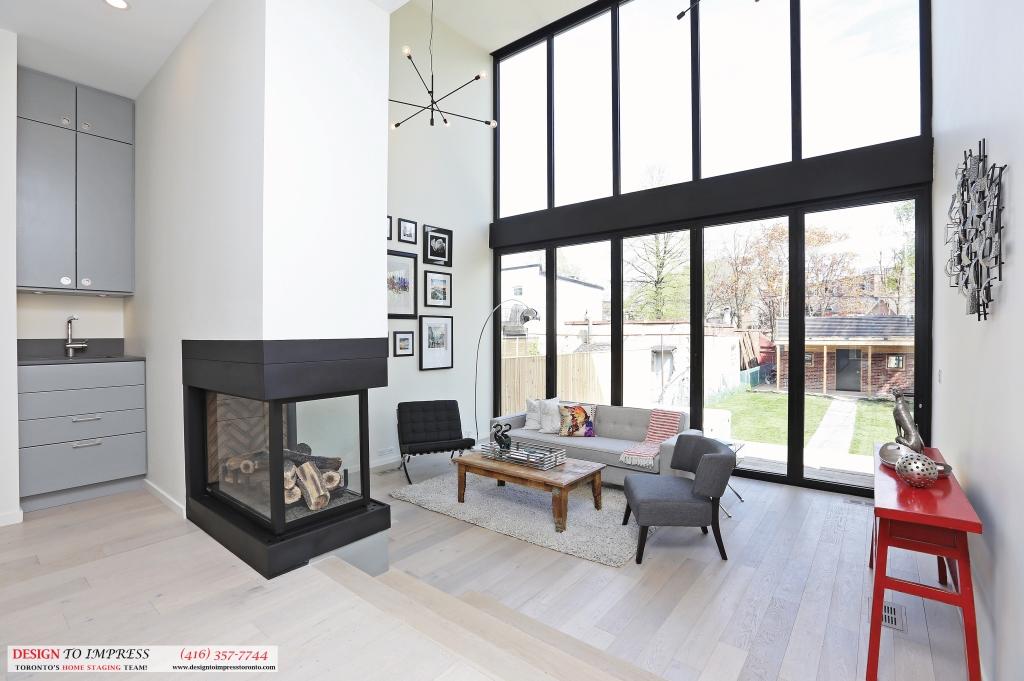 Interior Backyard Windows, 75 Parkway, Toronto Home Staging