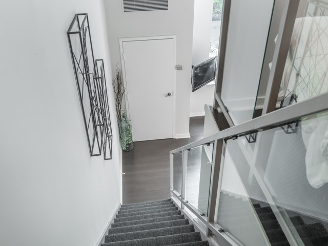 Balcony Door, 300 Manitoba, Toronto Condo Staging