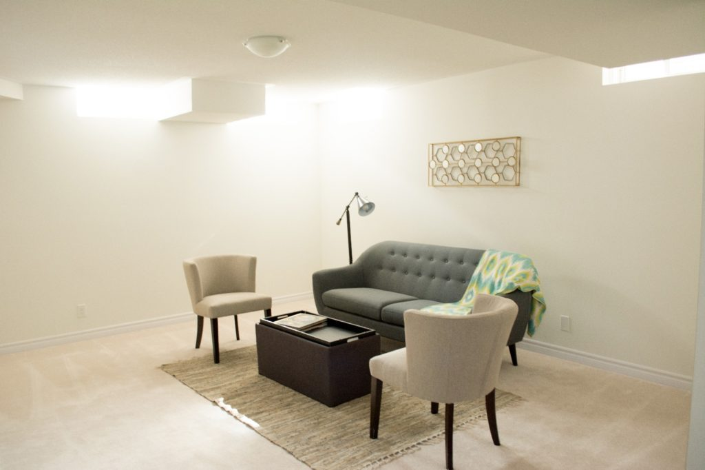 Basement, 2477 Hill Rise, Oshawa Home Staging