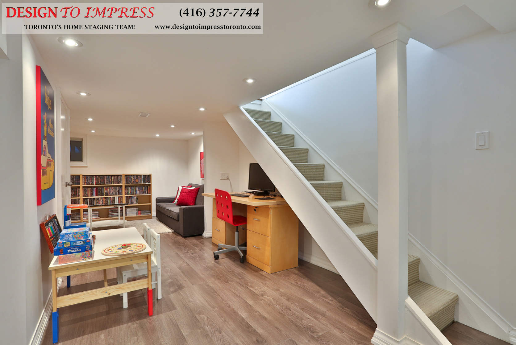Basement, 291 Springdale, Toronto Home Staging