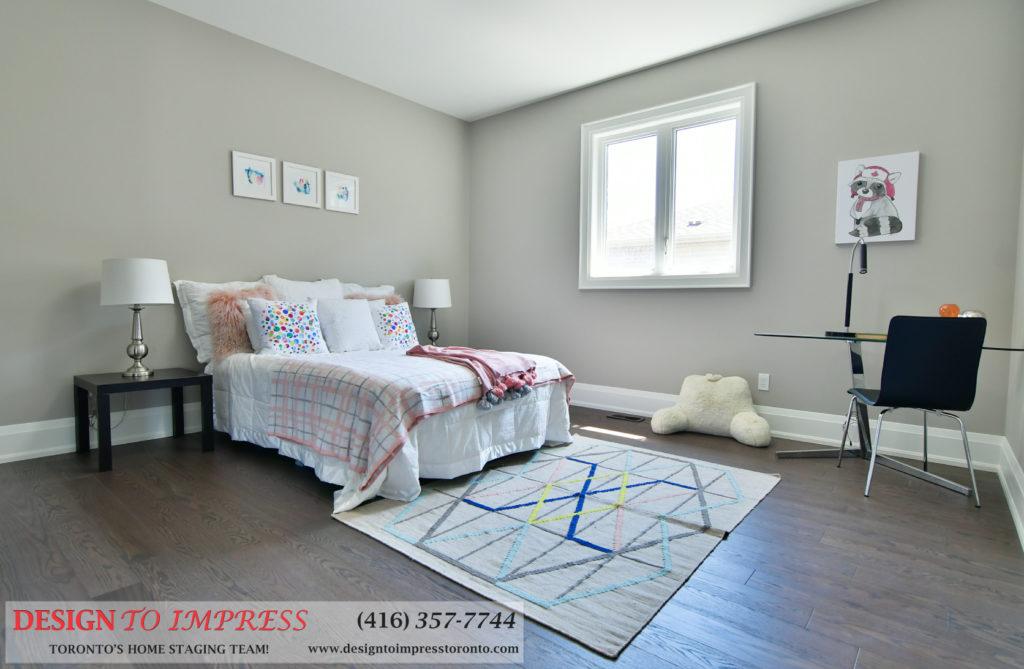 Basement Bedroom, 1771 Rockwood, Pickering Home Staging