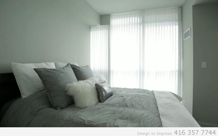 Bedroom, Simcoe St., Toronto Condo Staging