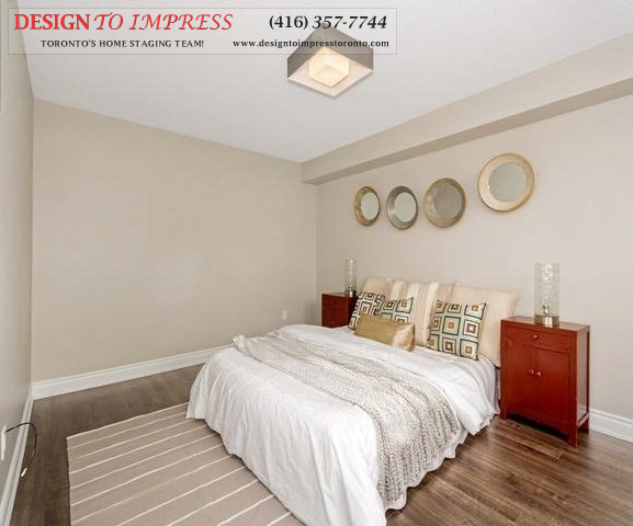 Bedroom, 2350 Bridletowne Circle, Scarborough Condo Staging