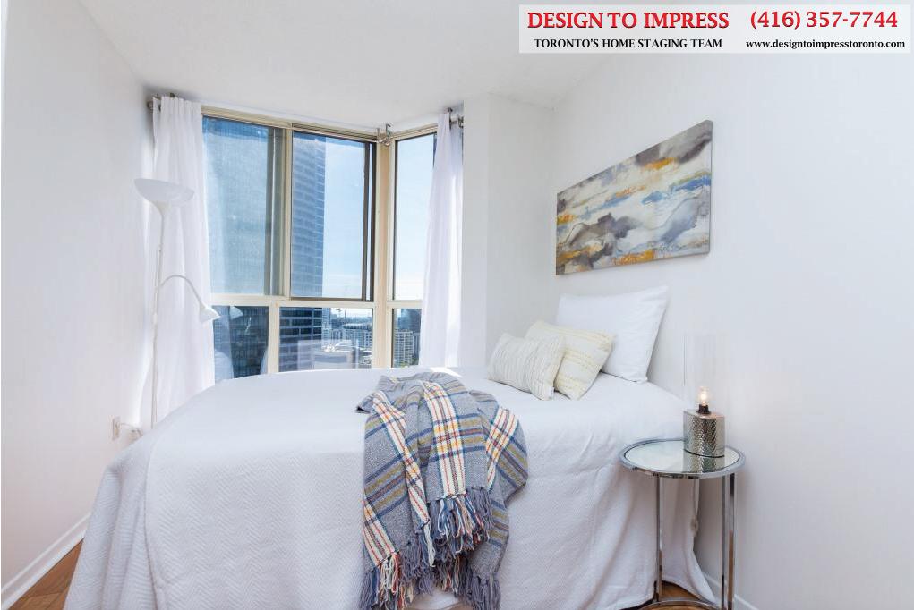 Bedroom, 44 St. Joseph, Toronto Condo Staging