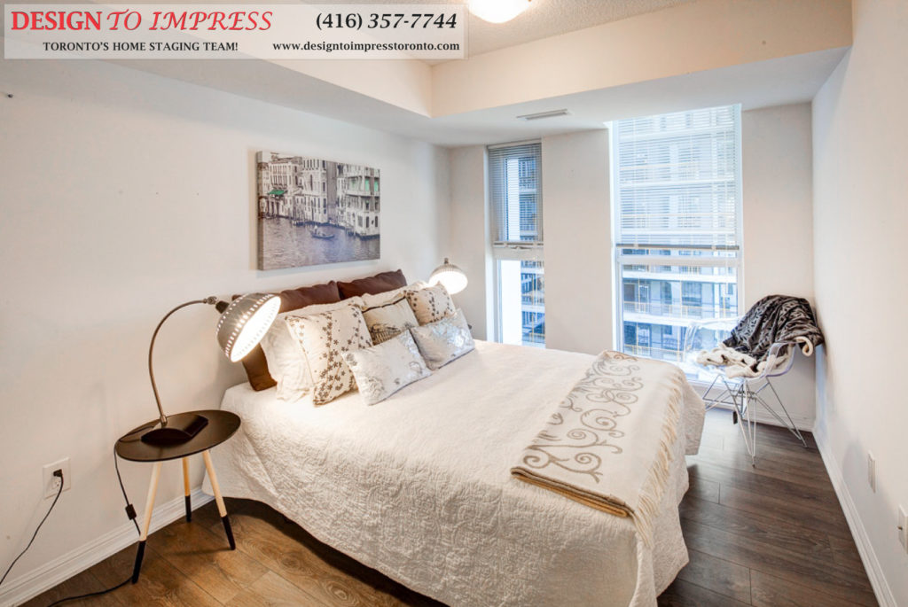 Bedroom, 400 Adelaide, Toronto Condo Staging