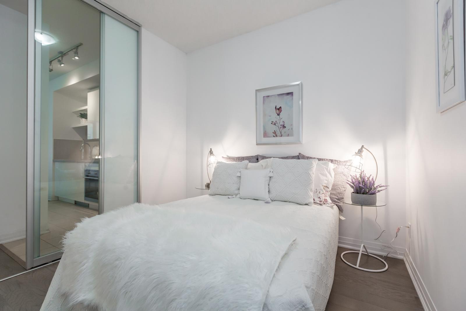 Bedroom, 59 Annie Craig, Toronto Condo Staging
