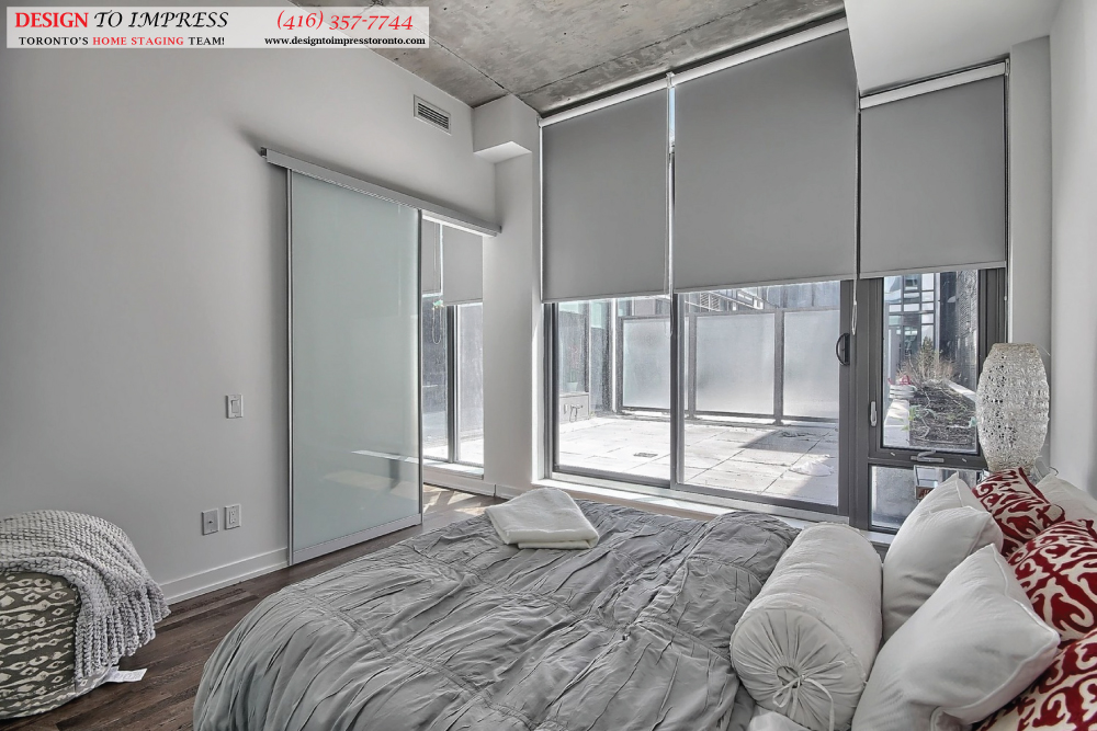 Bedroom Balcony View, 461 Adelaide, Toronto Condo Staging