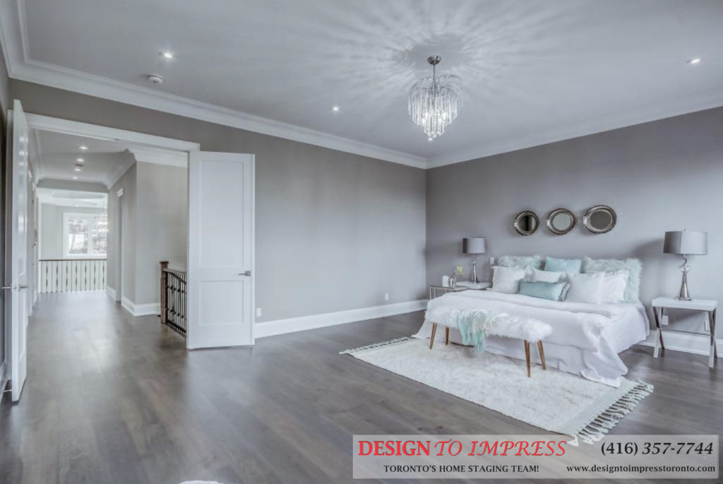 Bedroom Hallway, 1787 Spruce Hill, Pickering Home Staging