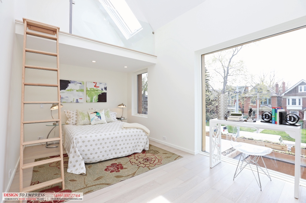 Bedroom Ladder to Attic, 75 Parkway, Toronto Home Staging