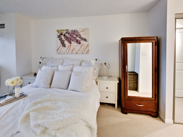 Bedroom Mirror, 10 Yonge, Toronto Condo Staging