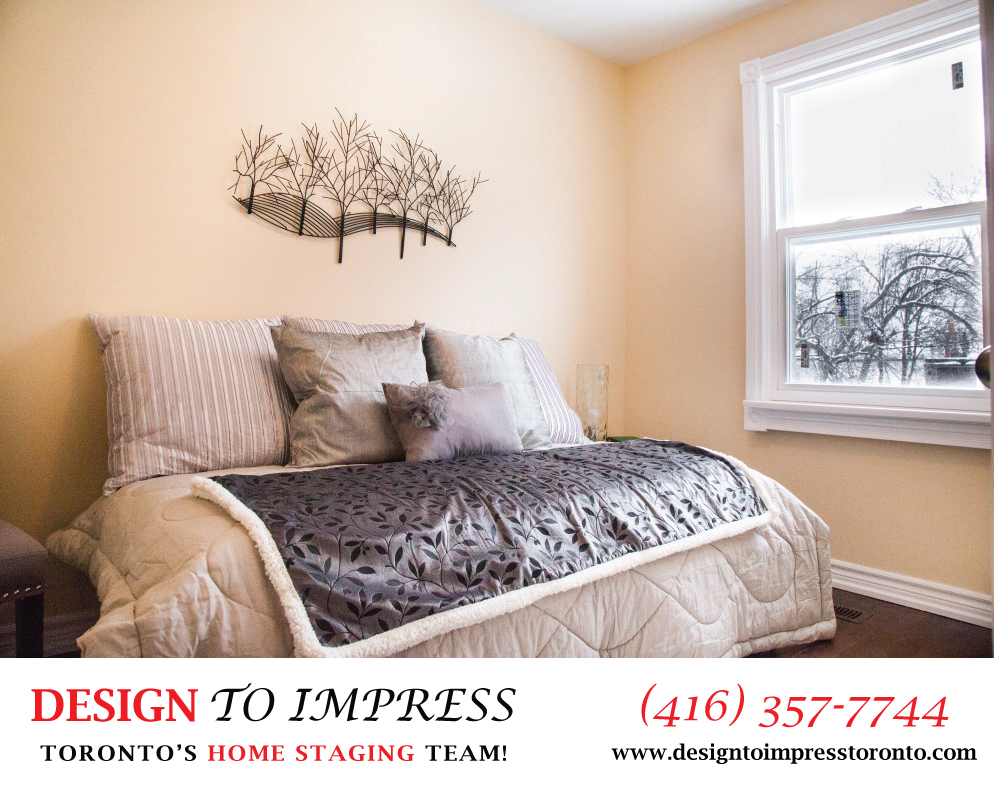 Bedroom Window, 22 Rhodes, Toronto Home Staging