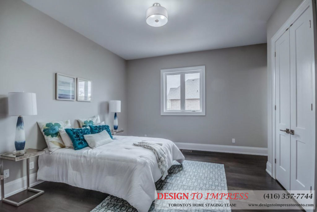 Bedroom, 1787 Spruce Hill, Pickering Home Staging