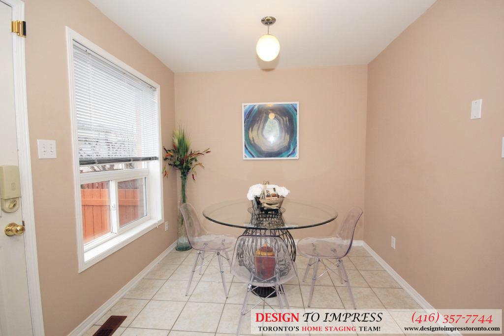 Breakfast Area Side View, 133 Tarragona, Toronto Home Staging