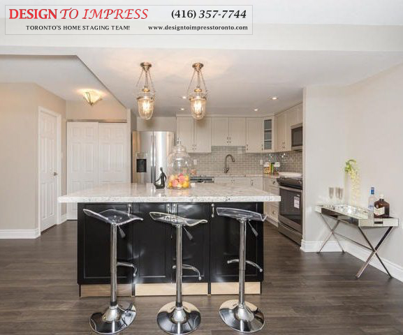 Breakfast Bar, 2350 Bridletowne Circle, Scarborough Condo Staging