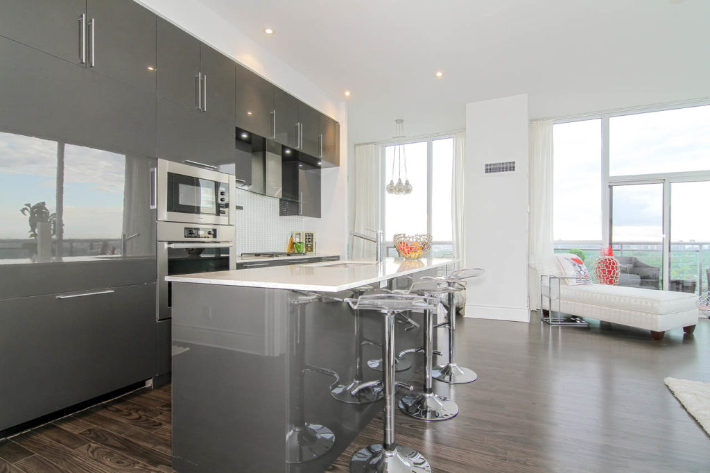 Breakfast Bar, 16 Brookers Lane, Toronto Condo Staging