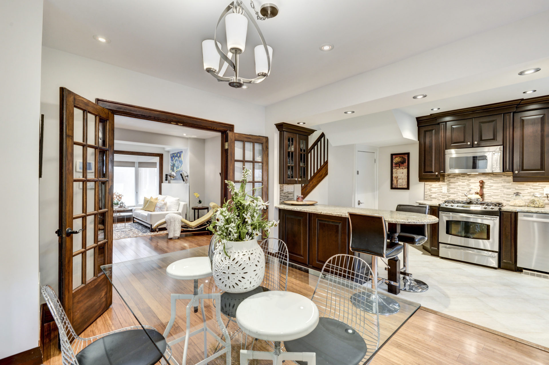 Breakfast Bar and Dining Room, 50 Albert, Etobicoke Home Staging