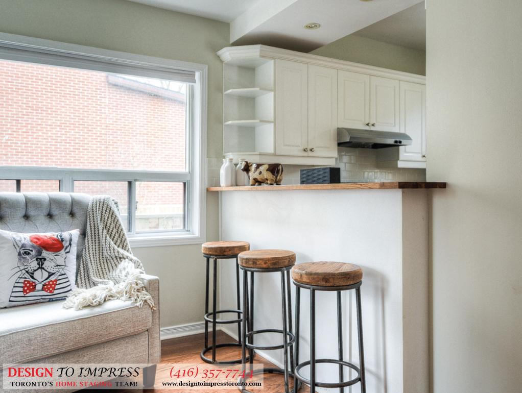 Breakfast Stools, 160 Hillside, Toronto Home Staging