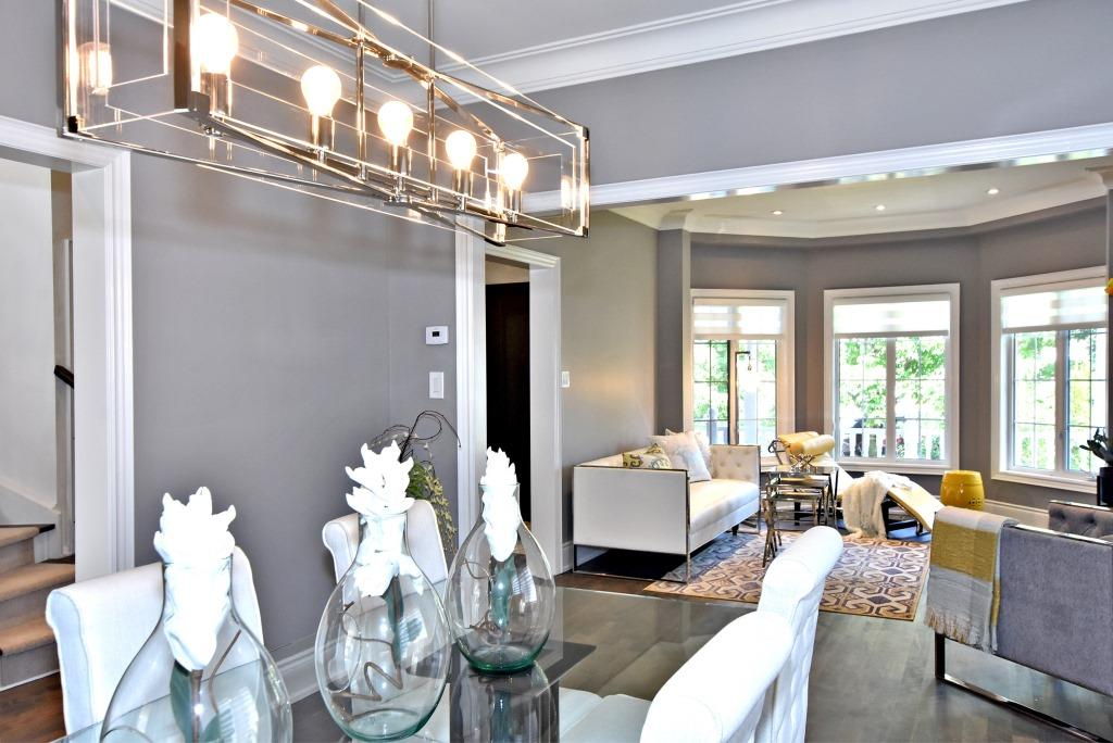 Dining Room and Living Room, 91 Wheeler, East York Home Staging