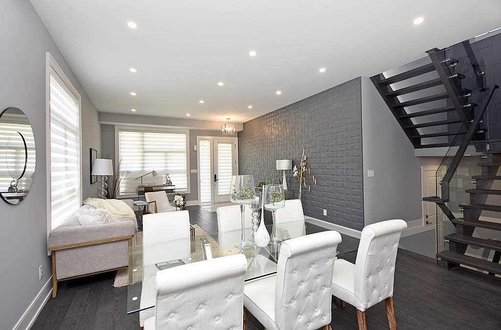 Dining Room, Living Room, Stairs, 948 Third, Mississauga Home Staging