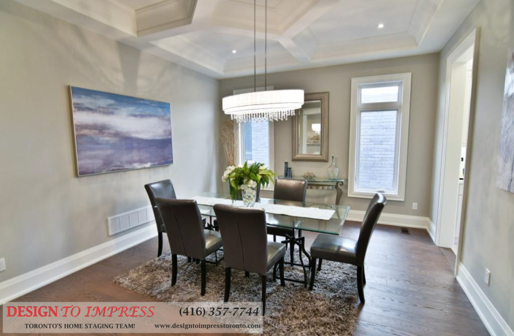 Dining Room, 1771 Rockwood, Pickering Home Staging