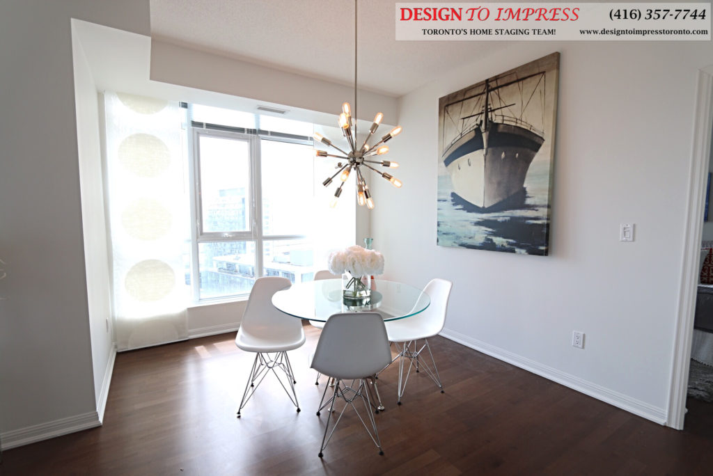 Dining Room, 21 Grand Magazine, Toronto Condo Staging