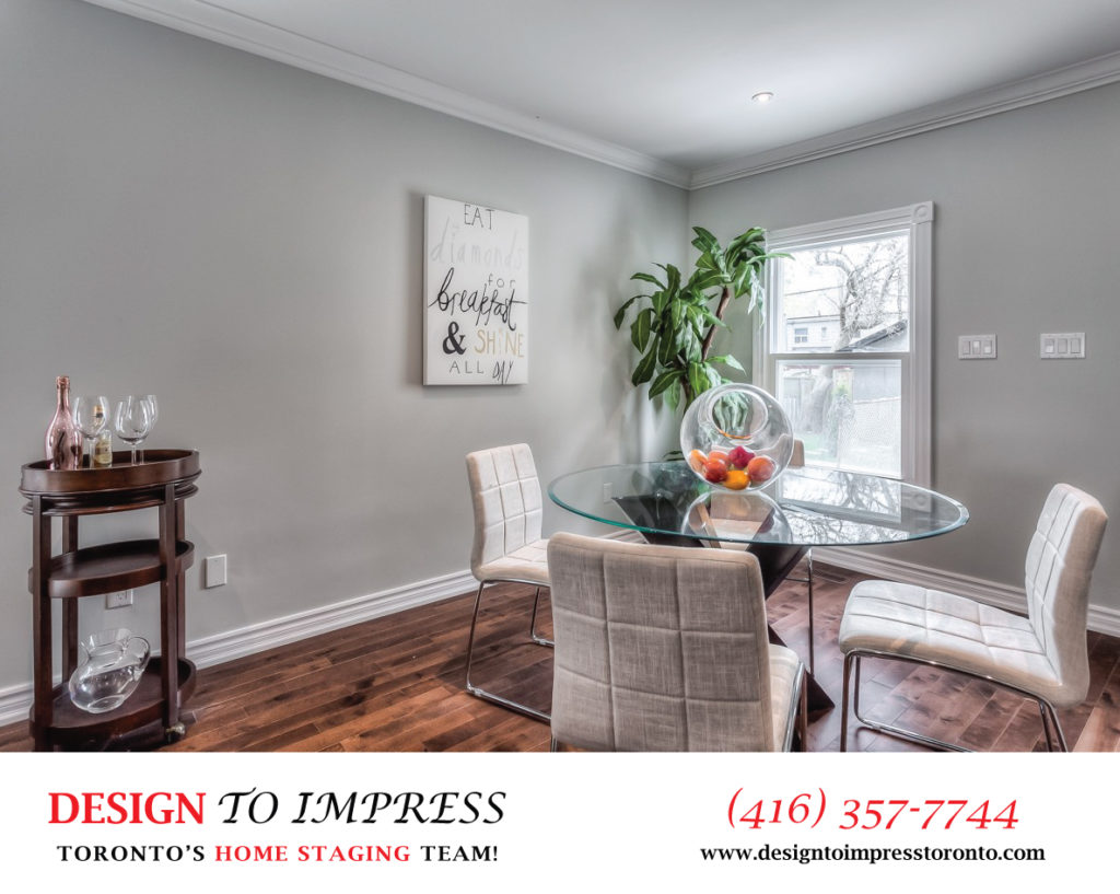 Dining Room, 22 Rhodes, Toronto Home Staging
