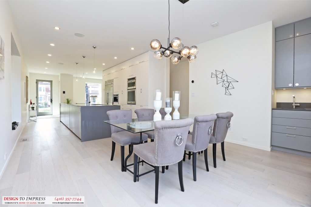 Dining Room and Kitchen, 75 Parkway, Toronto Home Staging