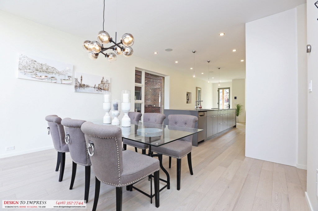 Dining Room Depth, 75 Parkway, Toronto Home Staging