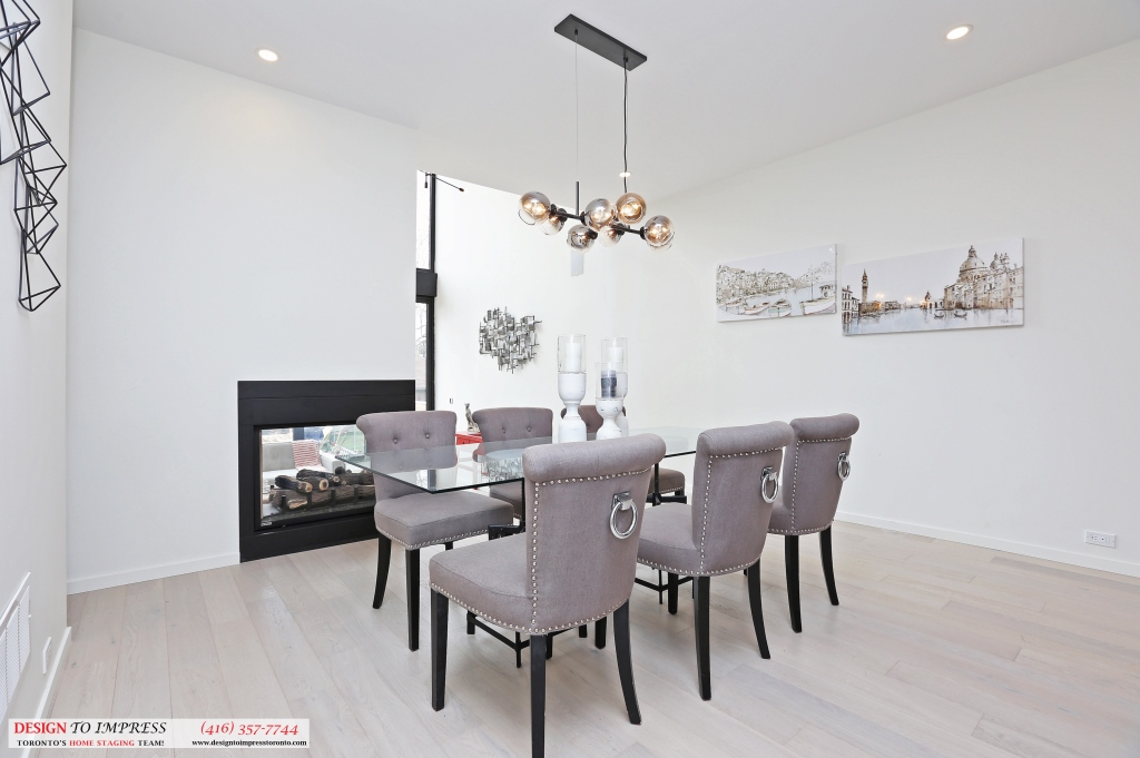 Dining Room Fireplace, 75 Parkway, Toronto Home Staging