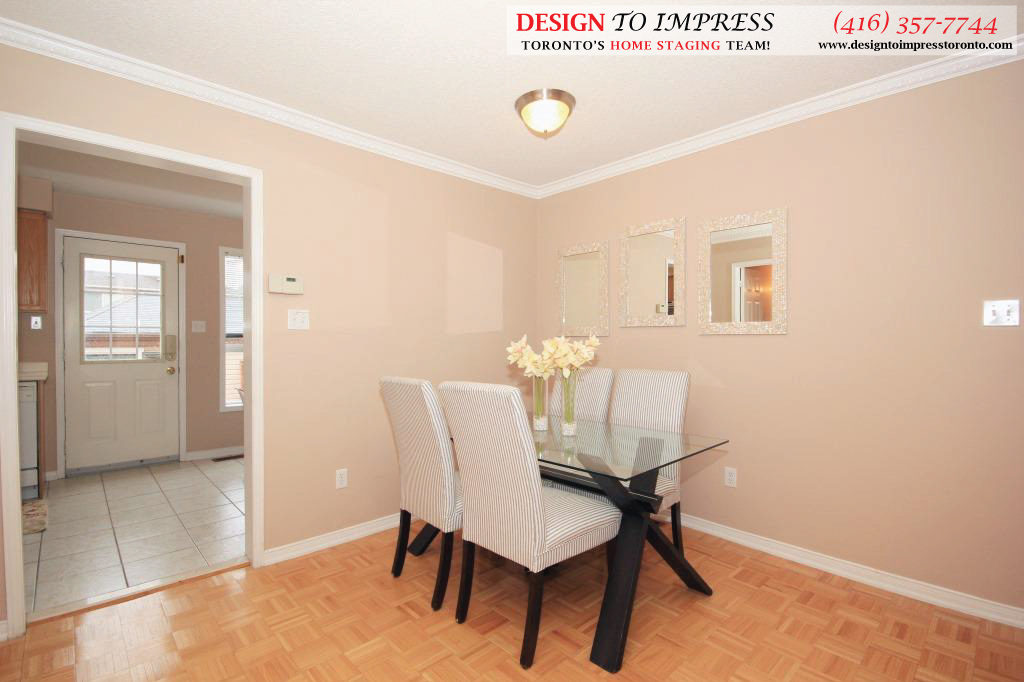 Dining Room Side View, 133 Tarragona, Toronto Home Staging