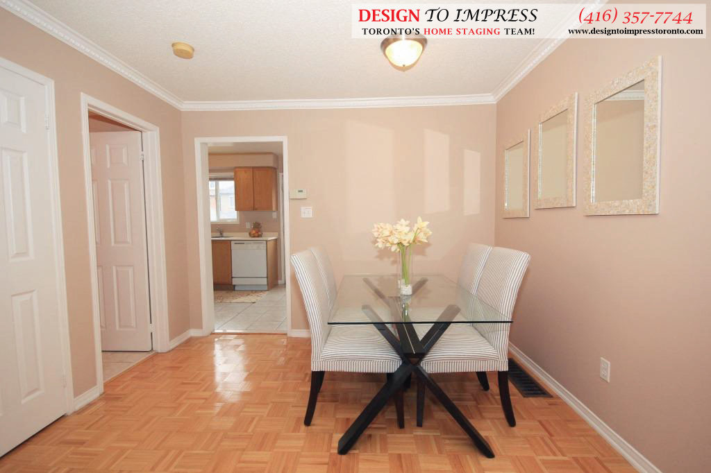 Dining Room Sideview, 133 Tarragona, Toronto Home Staging