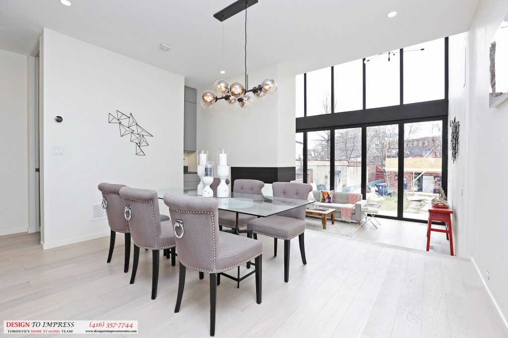 Dining Room Window, 75 Parkway, Toronto Home Staging