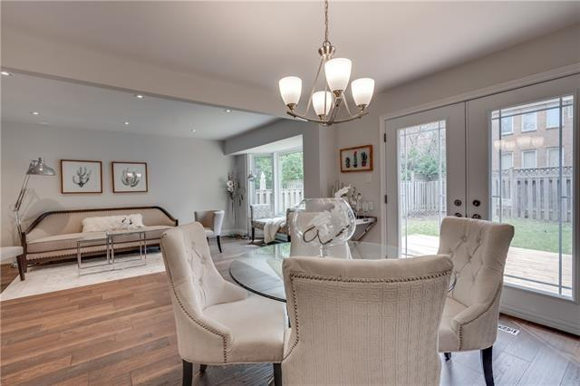 Dining Room and Sitting Area, 66 Springfield, Thornhill Home Staging