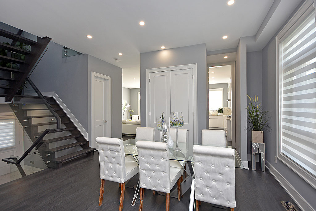Dining Room and Stairs, 948 Third, Mississauga Home Staging