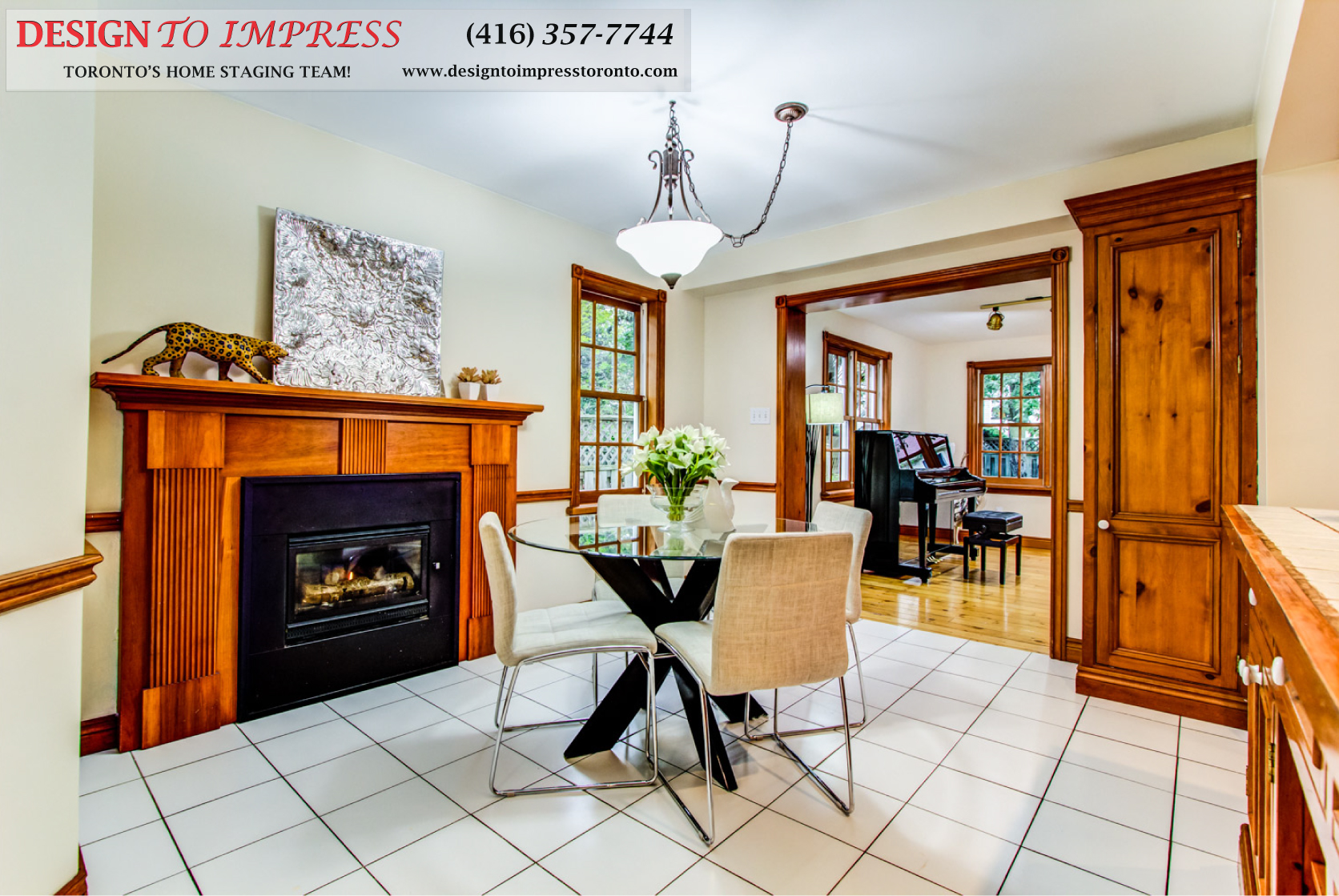 Eat-in Kitchen, 133 Huntington Park, Thornhill Home Staging