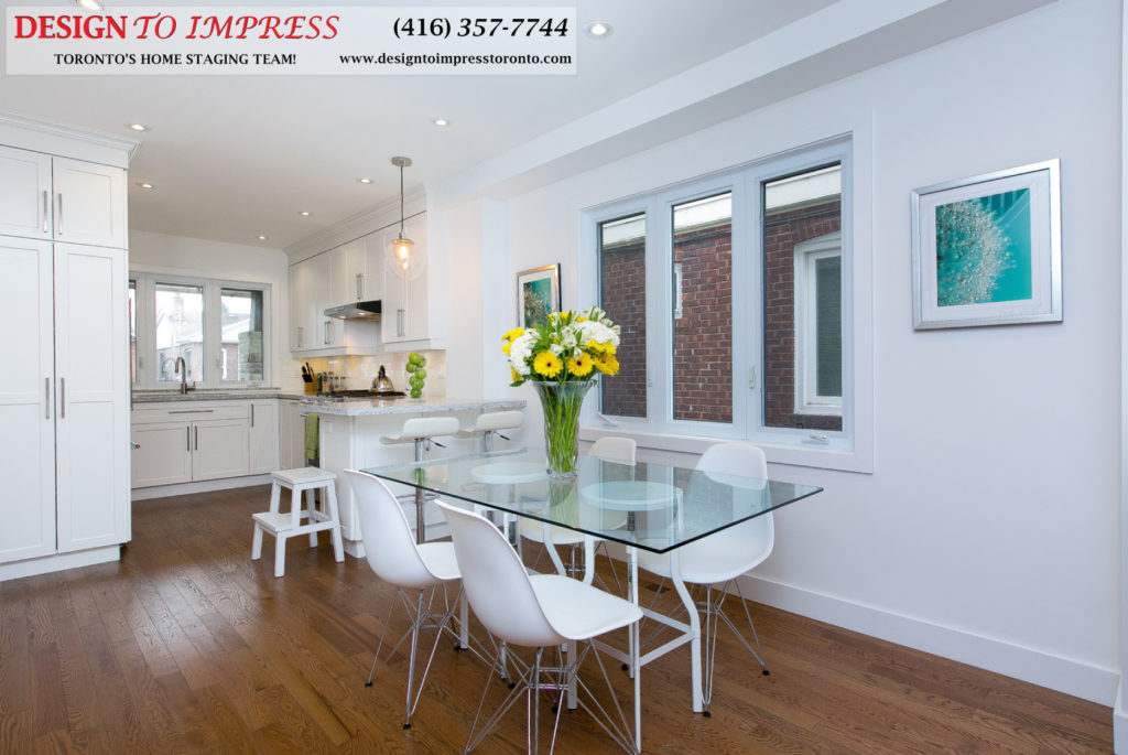 Eat-in Kitchen, 291 Springdale, Toronto Home Staging