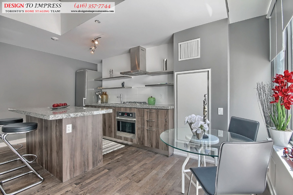 Eat-in Kitchen, 461 Adelaide, Toronto Condo Staging
