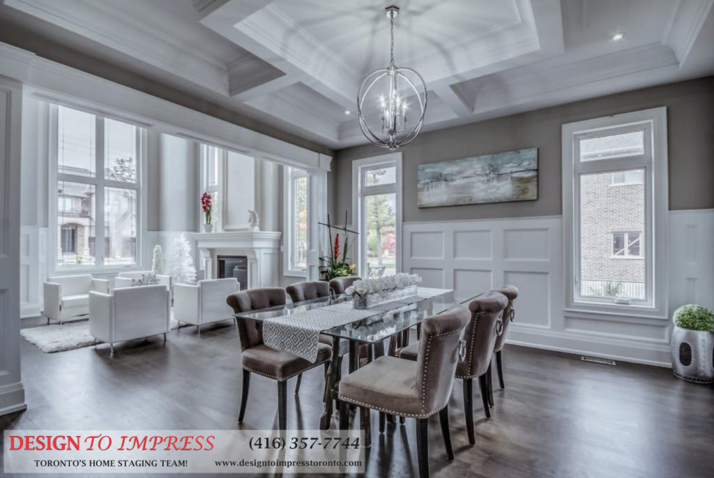 Dining Room, 1787 Spruce Hill, Pickering Home Staging