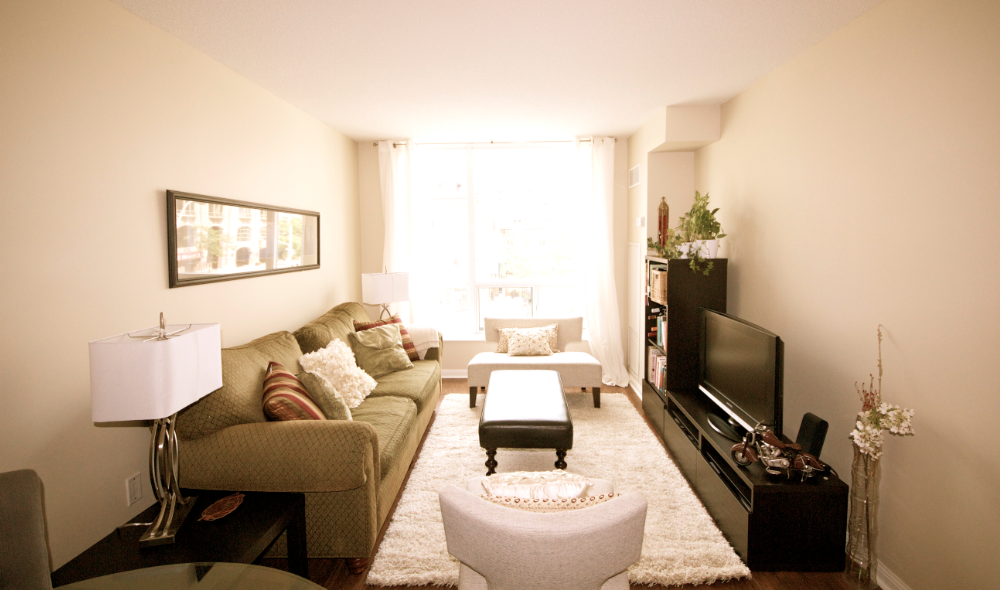 Family Room, 109 Front, Toronto Home Staging
