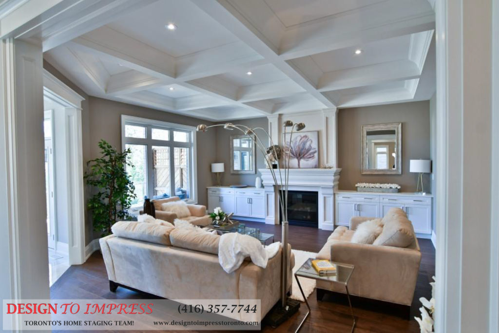 Family Room, 1771 Rockwood, Pickering Home Staging