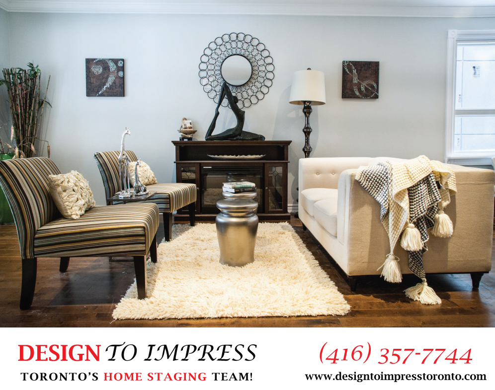 Family Room, 22 Rhodes, Toronto Home Staging
