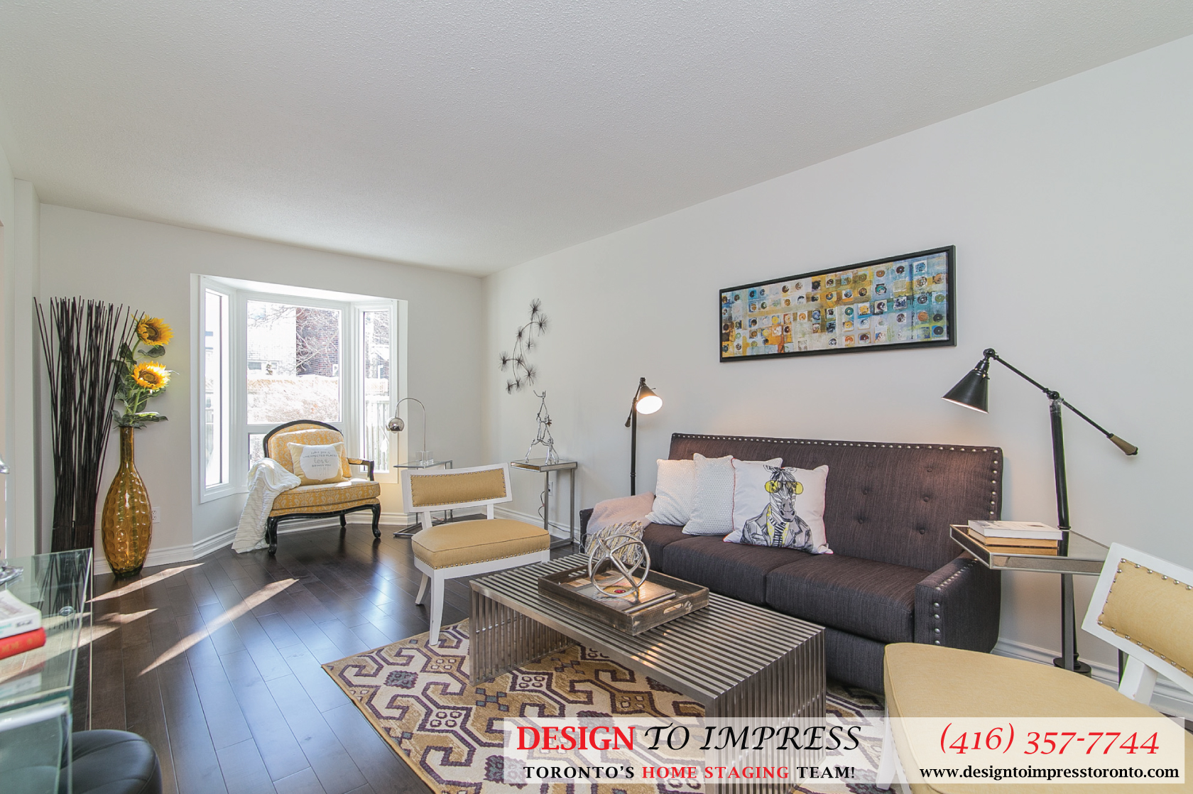 Family Room, 230 Royal Orchard, Thornhill Home Staging