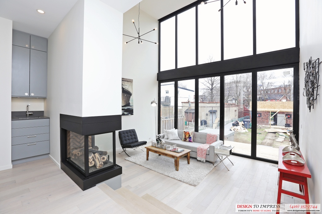 Family Room, 75 Parkway, Toronto Home Staging