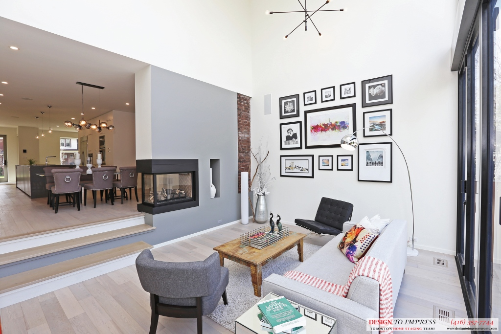 Family Room Sofas, 75 Parkway, Toronto Home Staging